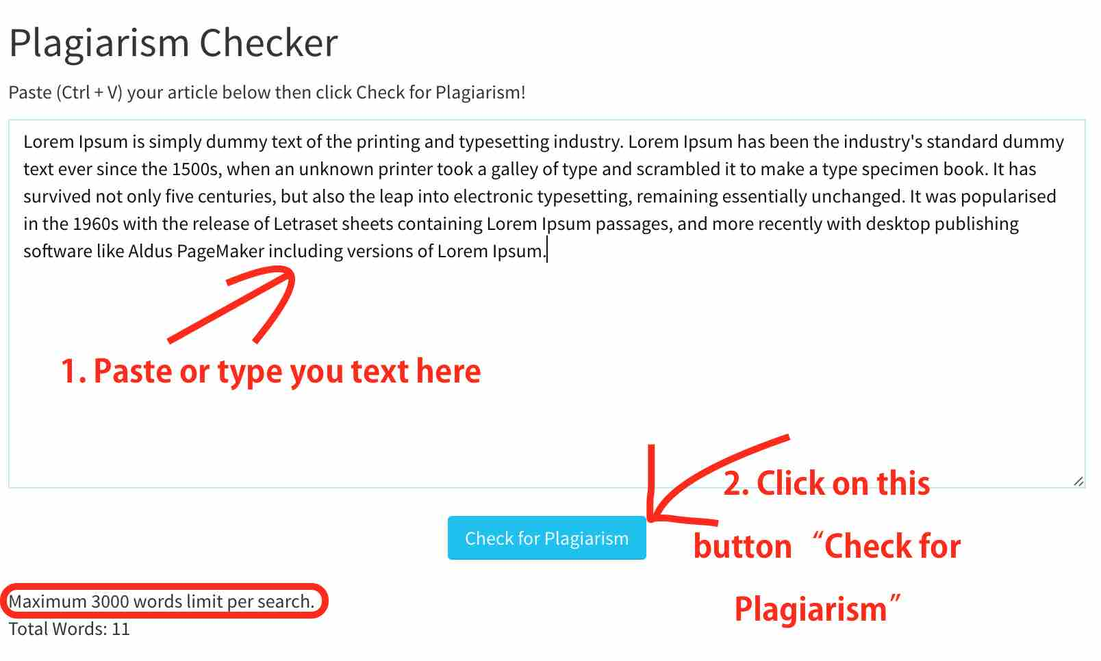 Plagiarism Checker Tool - How to use it!